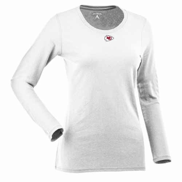 Kansas City Chiefs Womens Relax Long Sleeve Tee (Color: White)