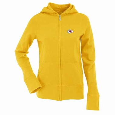 Kansas City Chiefs Womens Zip Front Hoody Sweatshirt (Color: Gold)