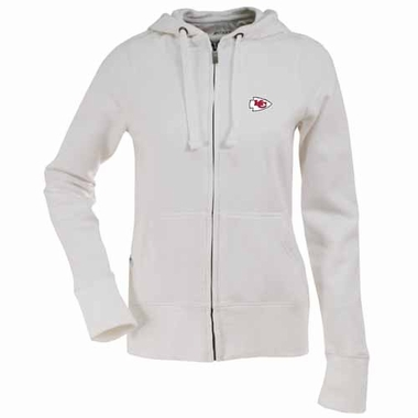 Kansas City Chiefs Womens Zip Front Hoody Sweatshirt (Color: White)