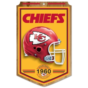 Kansas City Chiefs Wood Sign