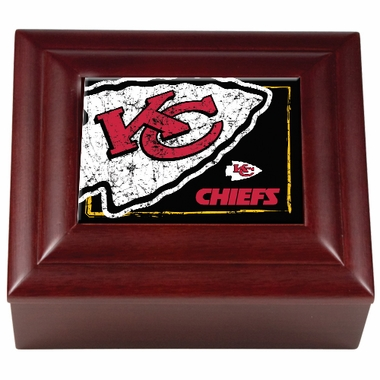 Kansas City Chiefs Wooden Keepsake Box