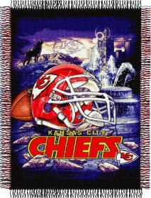 Kansas City Chiefs Woven Tapestry Throw Blanket