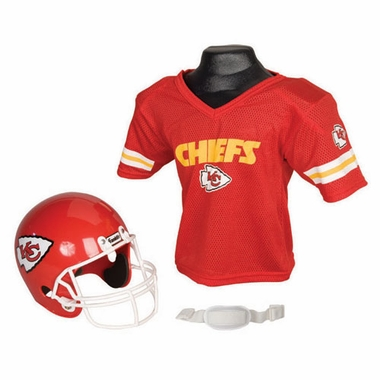 Kansas City Chiefs Youth Helmet and Jersey Set