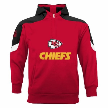 Kansas City Chiefs YOUTH Kick Off 1/4 Zip Performance Hoody