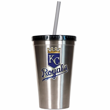 Kansas City Royals 16oz Stainless Steel Insulated Tumbler with Straw