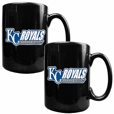Kansas City Royals 2 Piece Coffee Mug Set (Wordmark)
