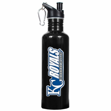 Kansas City Royals 26oz Stainless Steel Water Bottle (Black)