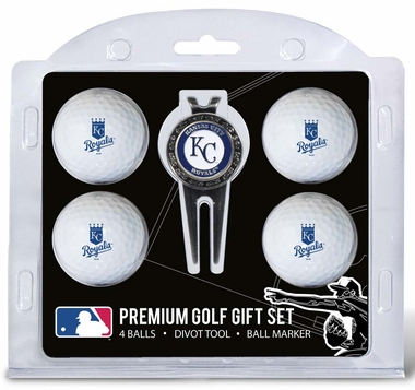 Kansas City Royals 4 Ball and Divot Tool Set