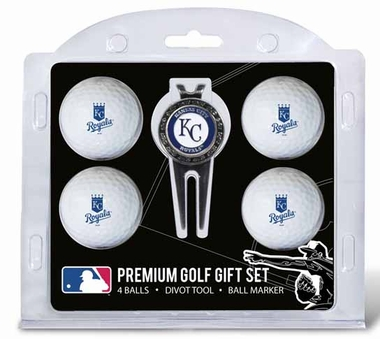 Kansas City Royals 4 Ball and Tool Gift Set