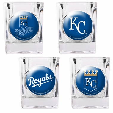 Kansas City Royals 4 Piece Assorted Shot Glass Set