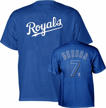 Kansas City Royals Alex Gordon Name and Number T-Shirt