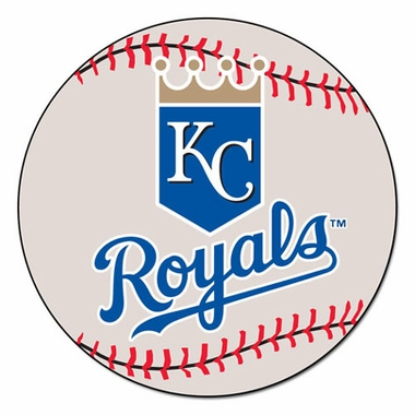 Kansas City Royals Baseball Shaped Rug