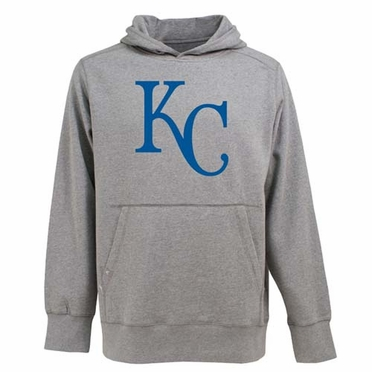 Kansas City Royals Big Logo Mens Signature Hooded Sweatshirt (Color: Gray)