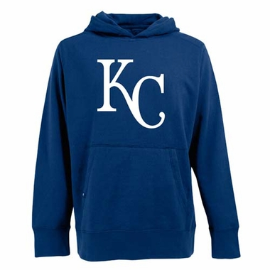 Kansas City Royals Big Logo Mens Signature Hooded Sweatshirt (Team Color: Royal)