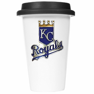 Kansas City Royals Ceramic Travel Cup (Black Lid)
