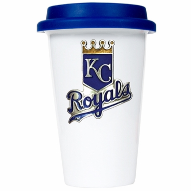 Kansas City Royals Ceramic Travel Cup (Team Color Lid)