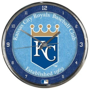 Kansas City Royals Chrome Clock