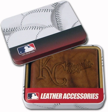 Kansas City Royals Embossed Leather Bifold Wallet