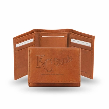 Kansas City Royals Embossed Leather Trifold Wallet