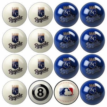 Kansas City Royals Home and Away Complete Billiard Ball Set