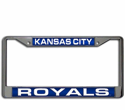 Kansas City Royals Laser Etched Chrome License Plate Frame