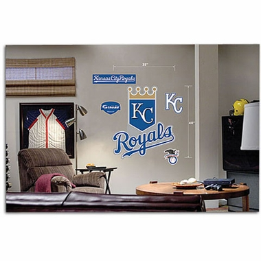 Kansas City Royals Logo Fathead Wall Graphic