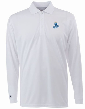 Kansas City Royals Mens Long Sleeve Polo Shirt (Color: White)