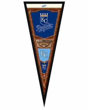 "Kansas City Royals Pennant Frame - 13""x33"" (No Glass)"
