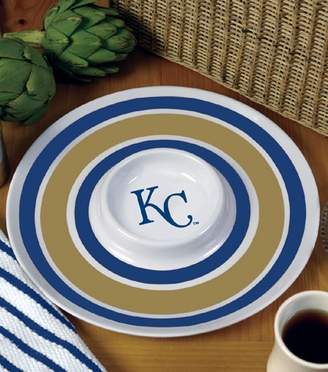 Kansas City Royals Plastic Chip and Dip Plate