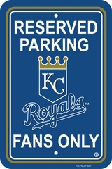 Kansas City Royals Plastic Parking Sign (P)