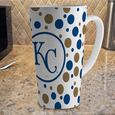 Kansas City Royals Polkadot 16 oz. Ceramic Latte Mug