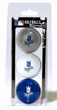Kansas City Royals Set of 3 Multicolor Golf Balls