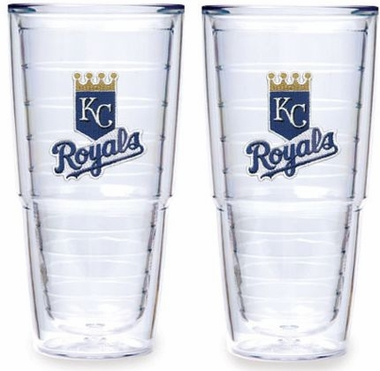 "Kansas City Royals Set of TWO 24 oz. ""Big T"" Tervis Tumblers"