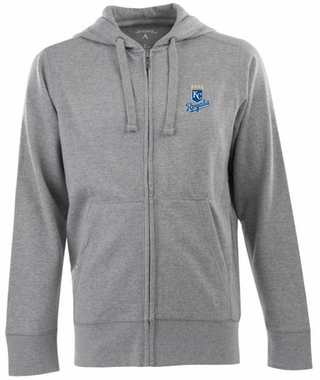 Kansas City Royals Mens Signature Full Zip Hooded Sweatshirt (Color: Gray)