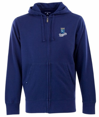 Kansas City Royals Mens Signature Full Zip Hooded Sweatshirt (Team Color: Royal)