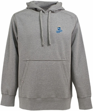 Kansas City Royals Mens Signature Hooded Sweatshirt (Color: Gray)