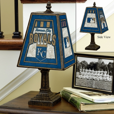 Kansas City Royals Small Art Glass Lamp