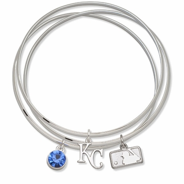 Kansas City Royals Triple Bangle Bracelet