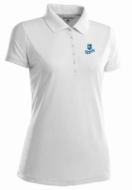 Kansas City Royals Womens Pique Xtra Lite Polo Shirt (Color: White)