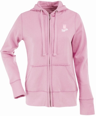 Kansas City Royals Womens Zip Front Hoody Sweatshirt (Color: Pink)