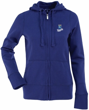 Kansas City Royals Womens Zip Front Hoody Sweatshirt (Team Color: Royal)