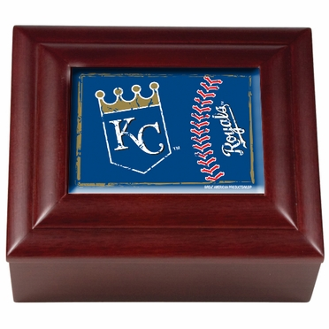 Kansas City Royals Wooden Keepsake Box