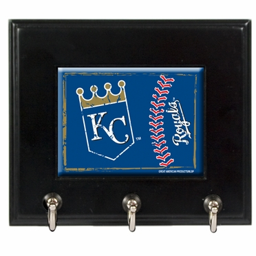 Kansas City Royals Wooden Keyhook Rack