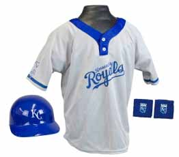 Kansas City Royals YOUTH Helmet and Jersey Set
