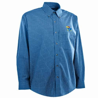 Kansas Mens Esteem Button Down Dress Shirt (Team Color: Royal)
