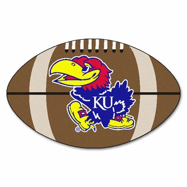 Kansas Football Shaped Rug