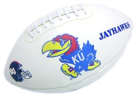 Kansas Full Size Embroidered Football