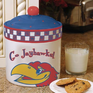 Kansas Gameday Ceramic Cookie Jar