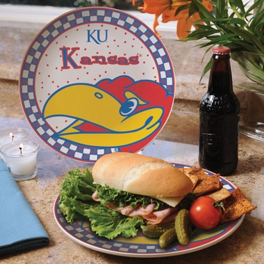 Kansas Gameday Ceramic Plate