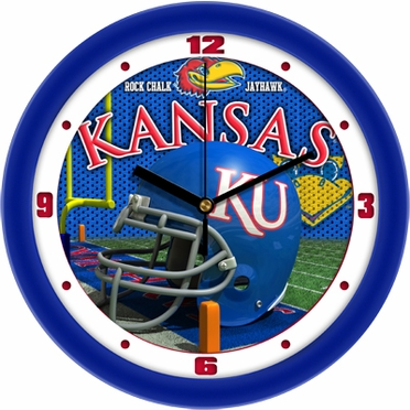 Kansas Helmet Wall Clock